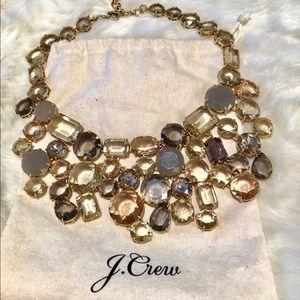 J. Crew jewel collar statement necklace.